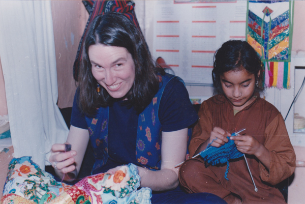 1996 stitching at home with Pooja