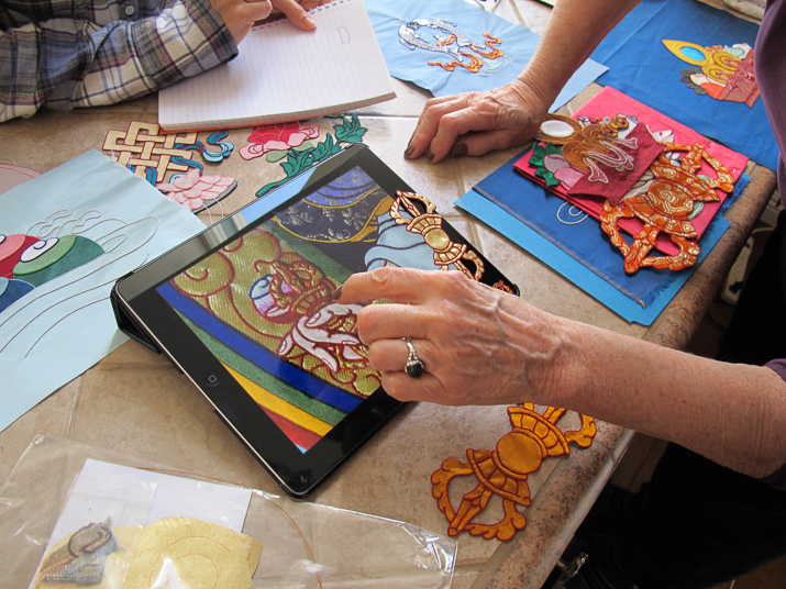 Students learn ancient textile art with the help of modern technology.
