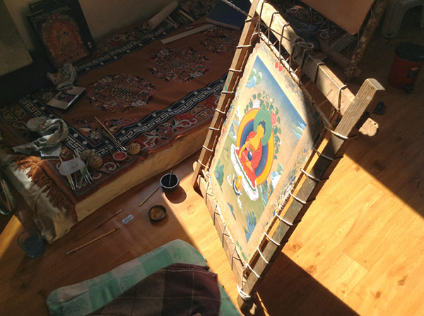Thangka Painting in Progress