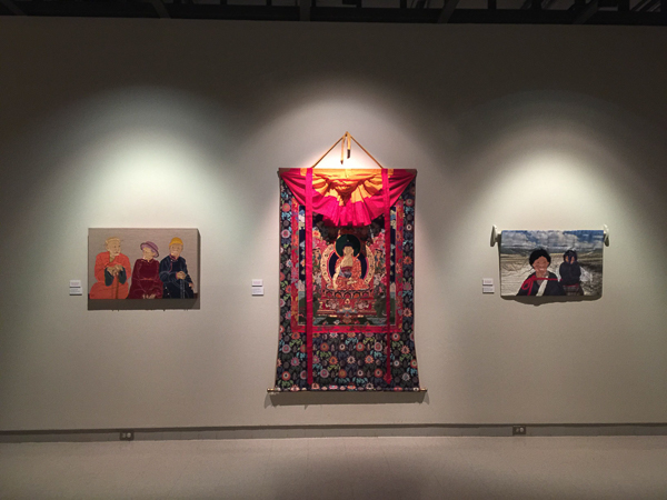 Traditional and contemporary works in Tibetan Appliqué by Leslie Rinchen-Wongmo at Fiber Art Master Works, Fresno Art Museum, May 20 to Aug 28, 2016.